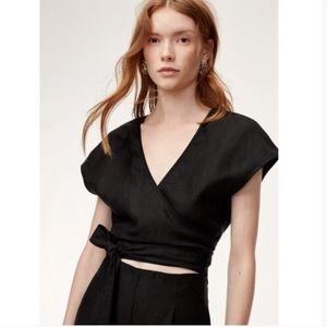 Wilfred Brazil black linen jumpsuit